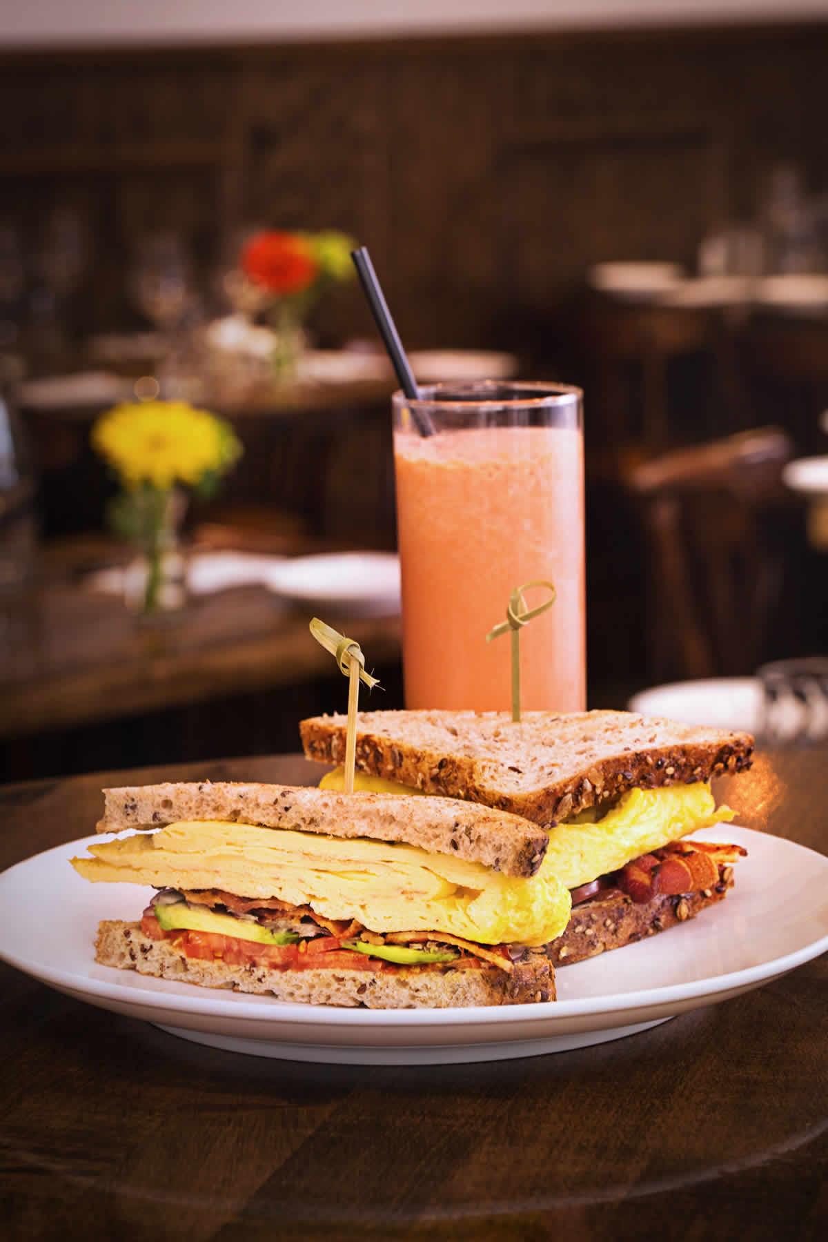 La Isla Breakfast Sandwich & Batido